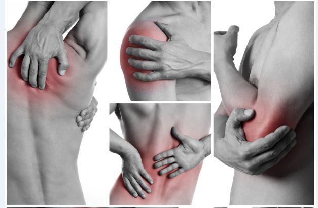 Punta aleatoria aliviar dolor lumbar